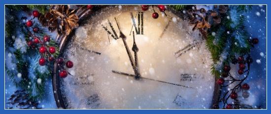 Новый год, часы, наступает, с Наступающим