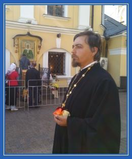 Священник Димитрий Синявин у блаженной Матроны