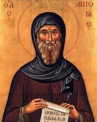 Преподобный Антоний Великий - икона