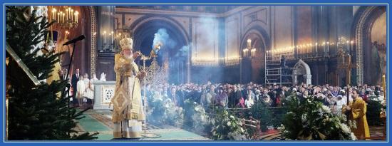Рождественская служба, Храм Христа Спасителя