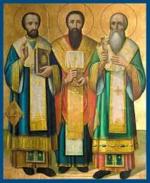 Святители Василий Великий - Григорий Богослов и Иоанн Златоуст