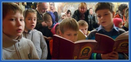 Дети, молятся, Великий пост