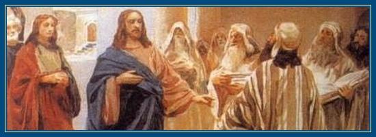 Господь учит в храме. Иисус Христос
