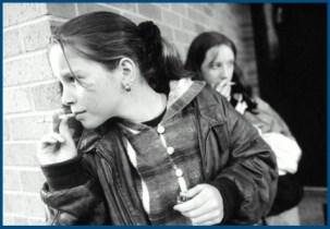 Курение за школой