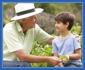Внук и дедушка, дед