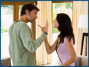 спор, ссора, муж и жена