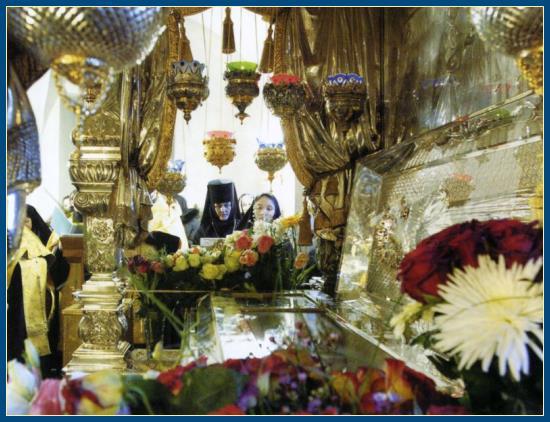 Открытые мощи святой Матроны
