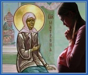 Святая Матрона - подает ребенка