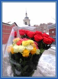 Букет, цветов, к мощам