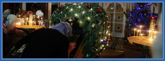 В храме, Рождество