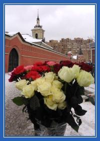 Цветы к мощам святой Матронв