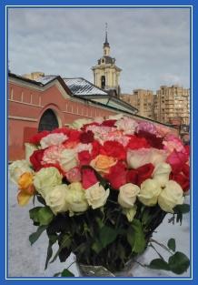 Цветы, букет, Матронушке