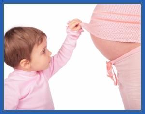 ребенок, мама, беременная, в положении