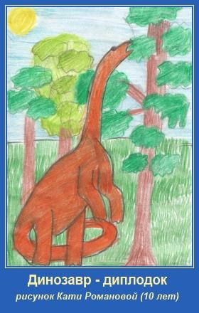 Динозавр. Катя Романова. Рисунок