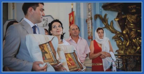 Благословение на брак, храм