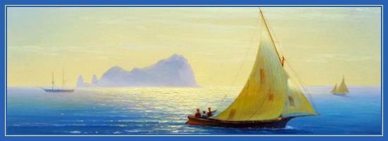 Корабли, море, остров
