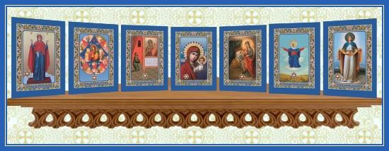 Иконы с Поясом Пресвятой Богородицы 2