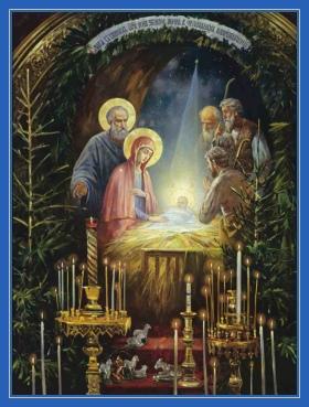 Рождество Христово, картина, храм