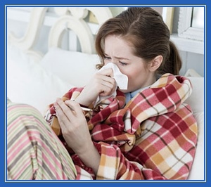 Больная, заболевшая, Грипп, болезнь, вирус