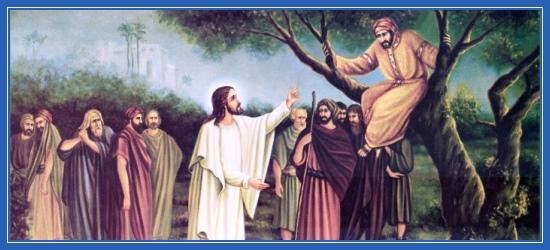 Закхей, мытарь, Иисус Христос