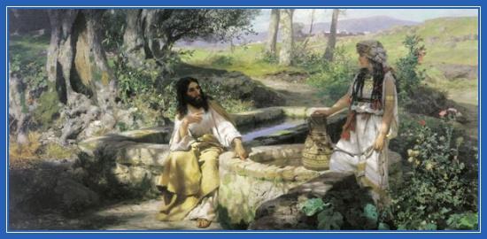 Беседа с самарянкой, Христос