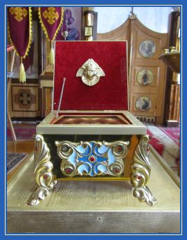 Ковчег с мощевиком, мощи, Гробница Пресвятой Богородицы