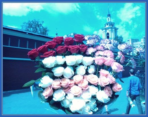Цветы в Покровский монастырь