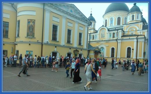 Площадь Покровского монастыря, икона святой Матроны