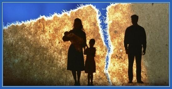 Распад семьи, ссора, развод