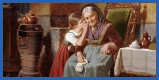 Бабушка и внучка, картина