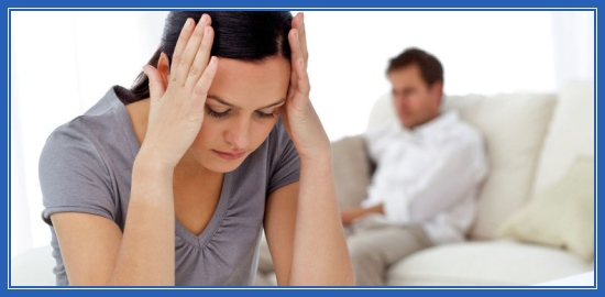 Муж и жена, ссора, сложности