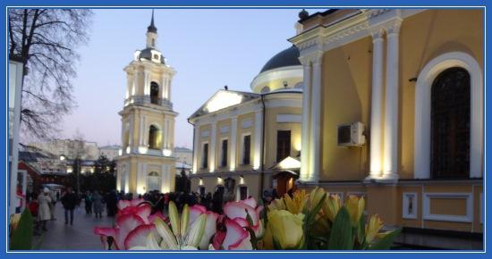 Покровский монастырь, цветы, святая Матрона