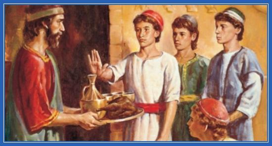 Пророк Даниил отказывается от еды
