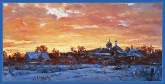 Зима, храм, снег