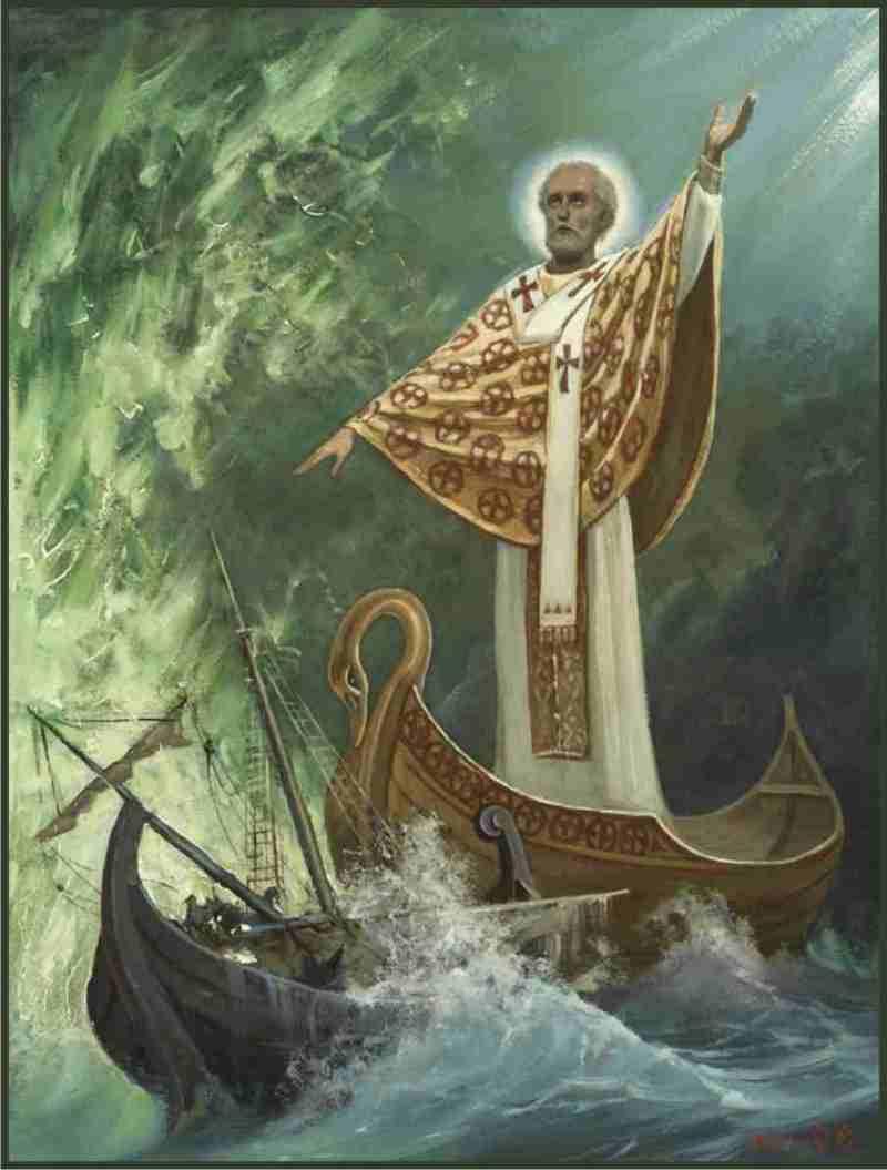 Св. Николай Чудотворец. На водах