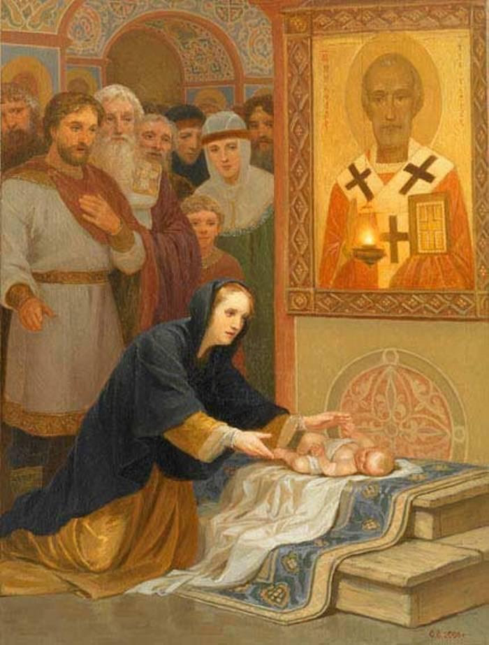 Чудесное обретение утонувшего младенца. Киев ХIв