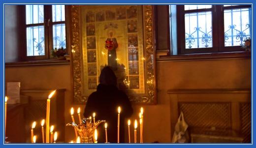 Чудотворная икона блаженной Матроны, пред которой я поставила свечу