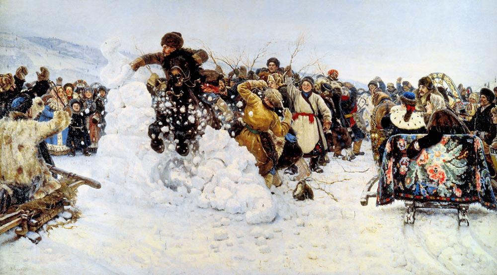 """В.И Суриков """"Взятие снежного городка"""""""