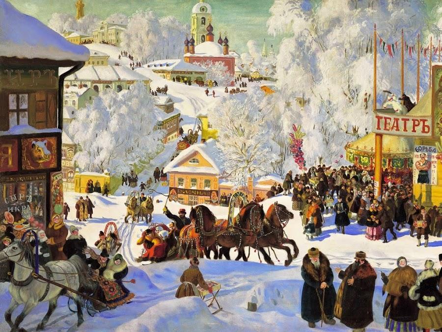 02 Борис Кустодиев. Масленица.