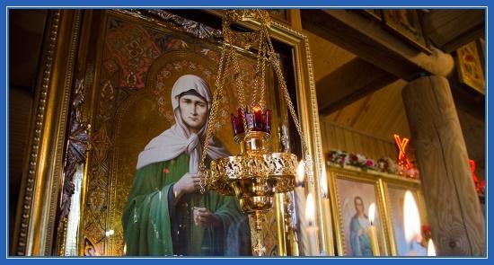 Икона блаженной Матроны, святая Матрона Московская