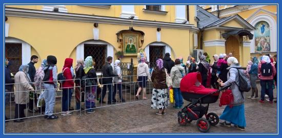 Покровский монастырь, Чудотворная икона блаженной Матроны