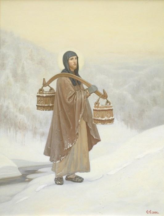 Преподобный Сергий. По воду.