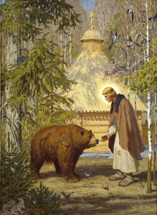 Преподобный Сергий Радонежский в картинах С. Ефошкина