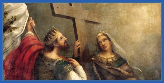 Император Константин и императрица Елена и Крест Господень. Воздвижение