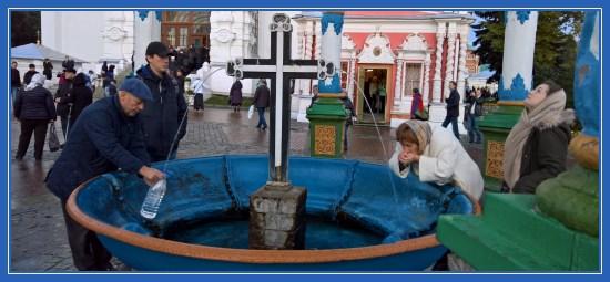 Крест со святой водой