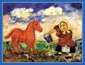 Крестьянка и конь