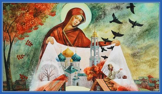 Покров Пресвятой Богородицы, картина