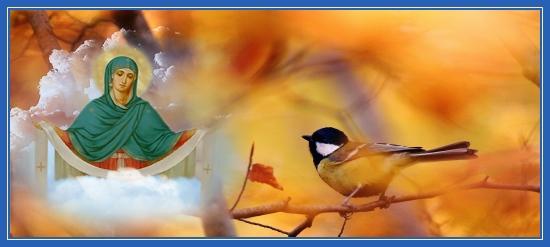 Покров Пресвятой Богородицы. Осень. Синица