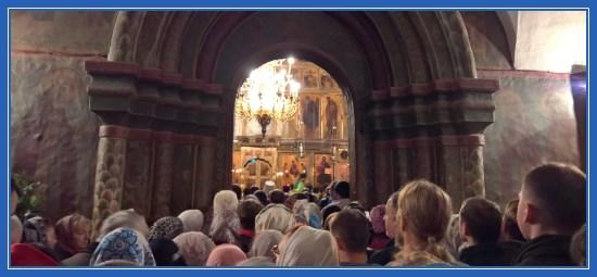 Всенощная в Троицком соборе