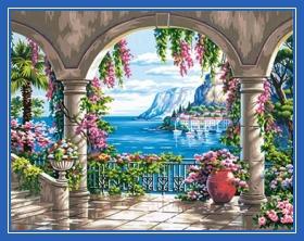 Море, красивый пейзаж, картина